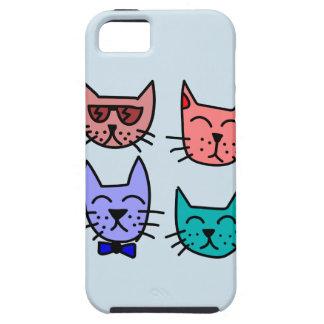 Funda Para iPhone SE/5/5s Caso del iphone de los gatos de la pintada