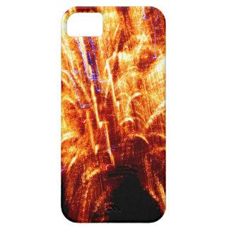 Funda Para iPhone SE/5/5s Caso del iPhone del fuego artificial