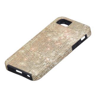 Funda Para iPhone SE/5/5s Caso duro del iPhone 5 de las lentejuelas del oro