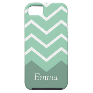 Funda Para iPhone SE/5/5s Chevron personalizó la caja del iphone (el verde)