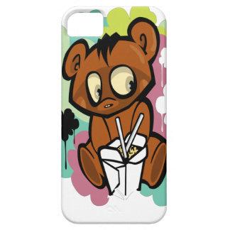 Funda Para iPhone SE/5/5s Chino lindo del dibujo animado del bebé del oso