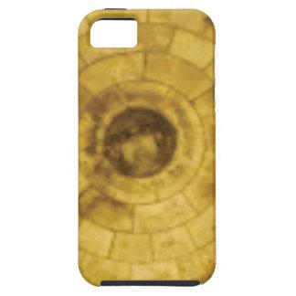 Funda Para iPhone SE/5/5s círculos de piedra amarillos
