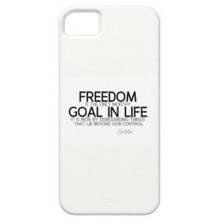 Funda Para iPhone SE/5/5s CITAS: Epictetus: Libertad: meta digna