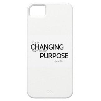 Funda Para iPhone SE/5/5s CITAS: Heraclitus: Cambio, propósito