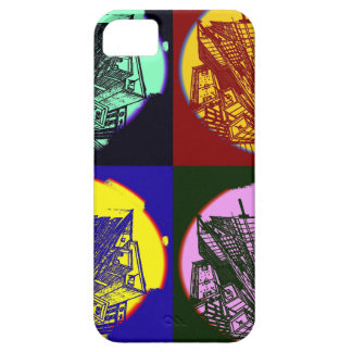 Funda Para iPhone SE/5/5s city 3 point art perspective style pop