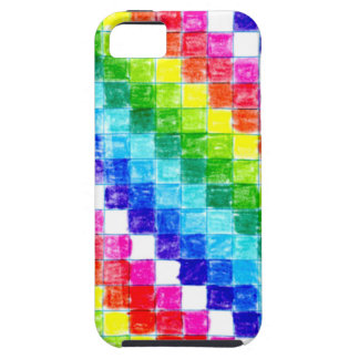 Funda Para iPhone SE/5/5s Coloreado en cuadrados del papel cuadriculado