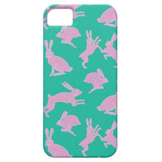 Funda Para iPhone SE/5/5s Conejitos blancos y rosados en la caja verde del