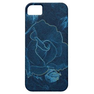 Funda Para iPhone SE/5/5s contorno color de rosa azul