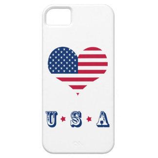 Funda Para iPhone SE/5/5s Corazón americano de los E.E.U.U. de la bandera de