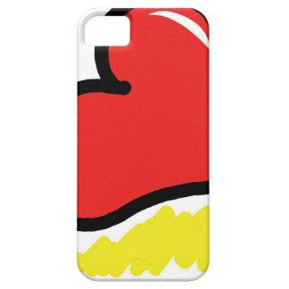 Funda Para iPhone SE/5/5s corazón feliz rojo