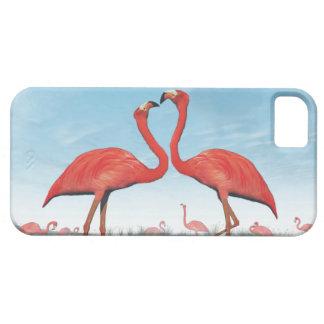 Funda Para iPhone SE/5/5s Cortejo de los flamencos - 3D rinden