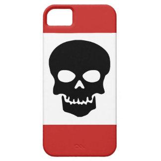 Funda Para iPhone SE/5/5s Cráneo negro con rojo