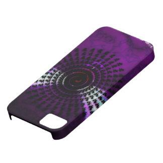 Funda Para iPhone SE/5/5s cubierta negra púrpura del iphone