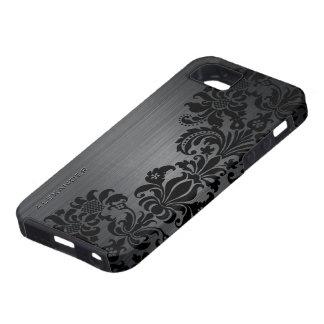 Funda Para iPhone SE/5/5s Damascos de aluminio y florales cepillados