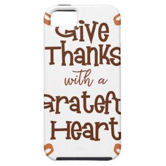 Funda Para iPhone SE/5/5s Dé las gracias con un corazón agradecido