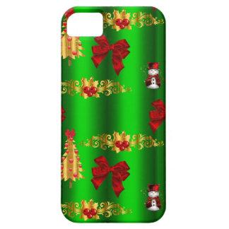 Funda Para iPhone SE/5/5s Decoraciones del navidad en verde