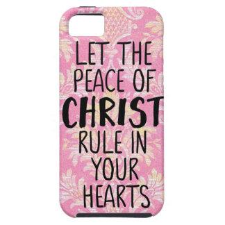 Funda Para iPhone SE/5/5s Deje la paz de Cristo gobernar en sus corazones