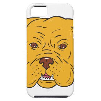 Funda Para iPhone SE/5/5s Dibujo animado de la cabeza de perro de Burdeos