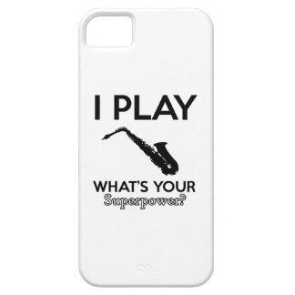 Funda Para iPhone SE/5/5s diseños divertidos del saxofón