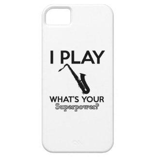 Funda Para iPhone SE/5/5s diseños frescos del saxofón