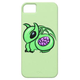 Funda Para iPhone SE/5/5s Dragón verde, huevo púrpura del dragón