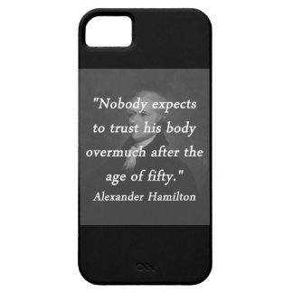Funda Para iPhone SE/5/5s Edad de cincuenta - Alexander Hamilton