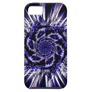 Funda Para iPhone SE/5/5s El azul tuerce en espiral caso duro del iPhone