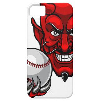 Funda Para iPhone SE/5/5s El béisbol del diablo se divierte la mascota