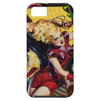Funda Para iPhone SE/5/5s El Blonde heroico monta un dinosaurio