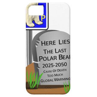 Funda Para iPhone SE/5/5s El calentamiento del planeta, RASGA el oso polar