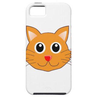 Funda Para iPhone SE/5/5s El gato anaranjado con la nariz roja