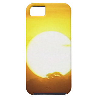 Funda Para iPhone SE/5/5s el kground añade la puesta del sol CONOCIDA de la