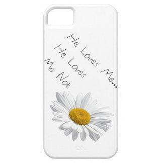 Funda Para iPhone SE/5/5s Él me ama, él me ama no