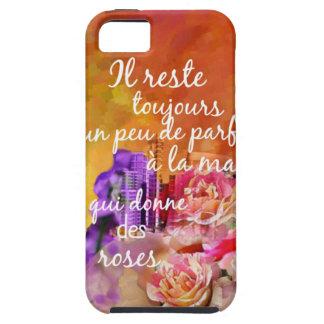 Funda Para iPhone SE/5/5s El olor de los rosas todavía permanece en la mano