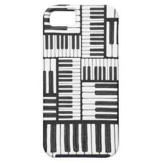 Funda Para iPhone SE/5/5s El piano cierra la caja blanco y negro del iPhone