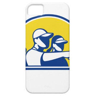 Funda Para iPhone SE/5/5s El señalar del caddie y del golfista retro