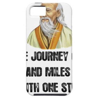 Funda Para iPhone SE/5/5s el viaje de mil millas comienza con un canto