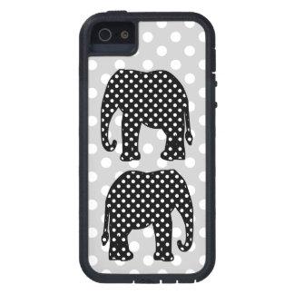 Funda Para iPhone SE/5/5s Elefante blanco y negro de los lunares