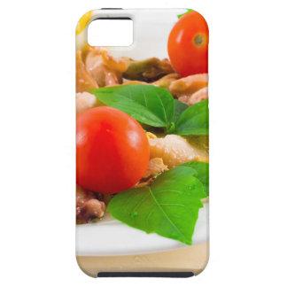 Funda Para iPhone SE/5/5s Ensalada de pedazos blanqueados de mariscos en una