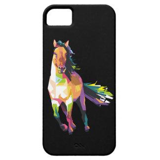 Funda Para iPhone SE/5/5s Equestrian corriente colorido del semental del