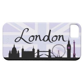 Funda Para iPhone SE/5/5s Escritura de Londres en el cielo de Union Jack y