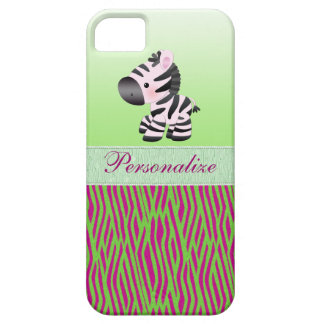 Funda Para iPhone SE/5/5s Estampado de animales verde de la cebra linda