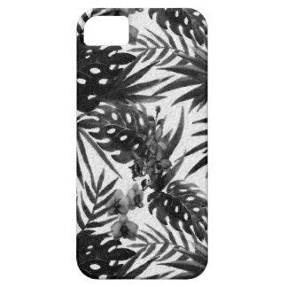 Funda Para iPhone SE/5/5s Estampado de plores tropical blanco y negro