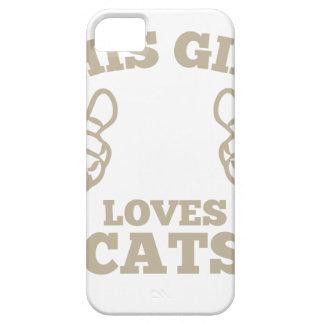 Funda Para iPhone SE/5/5s Este chica ama gatos
