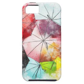 Funda Para iPhone SE/5/5s Extracto colorido de los paraguas