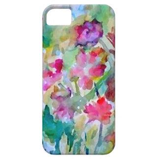 Funda Para iPhone SE/5/5s Extracto de la acuarela del jardín de flores de