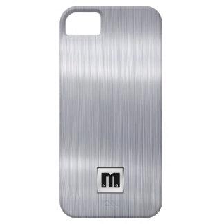 Funda Para iPhone SE/5/5s Falso aluminio cepillado con el monograma de