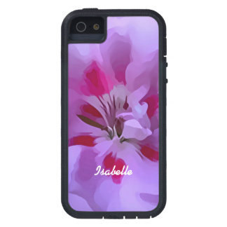 Funda Para iPhone SE/5/5s Flor abstracta rosada violeta del hibisco