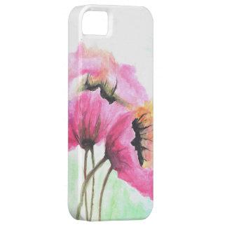 Funda Para iPhone SE/5/5s Flor pintada a mano rosada