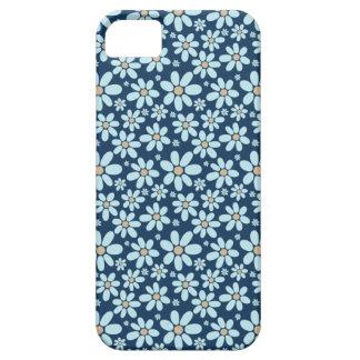 Funda Para iPhone SE/5/5s Flores en azul marino